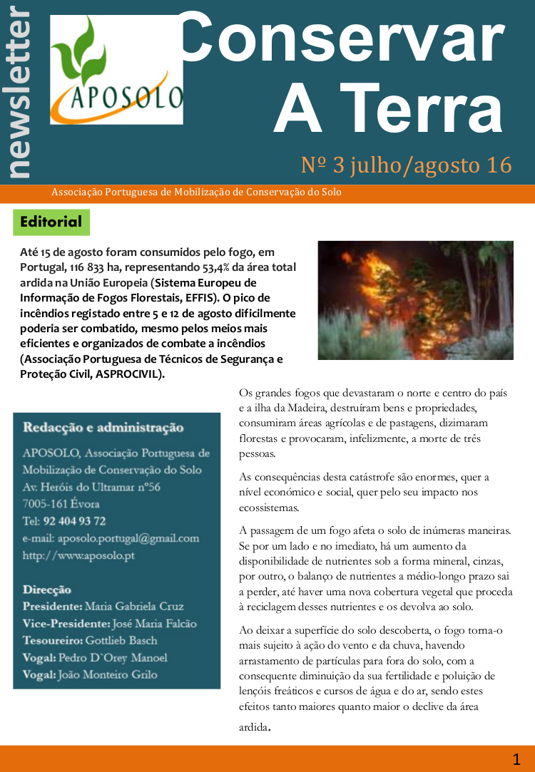 Newsletter Julio-Agosto 2016